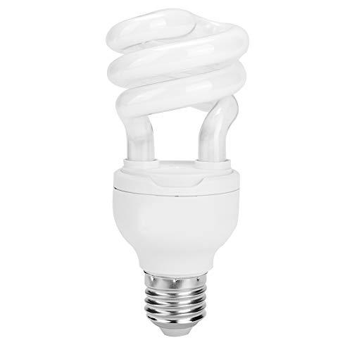 Zerodis Reptile UVB Bulb, 13W Compact Fluorescent Calcium Supplement Lighting Lamp Improve D3 Synthesis Heating Light for Amphibian Lizard Tortoises Succulent Plants(10.0)