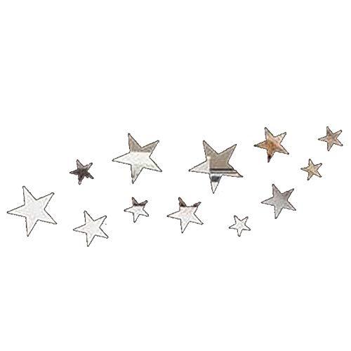 QJKai 12 Piezas de Espejos Gimnasio de Las Estrellas de Mirror Wall Sticker de