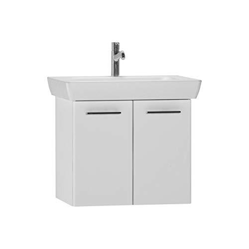 Vitra S20 Furniture Waschkommode mit Waschbecken, 2 Türen, 65 cm, Weiß glänzend