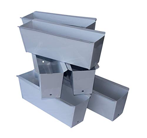 ARTECSIS Pflanzkasten Europalette 6er Set Weiß Aus Metall Blumenkasten Balkonkasten Blech Einsatz Für Paletten