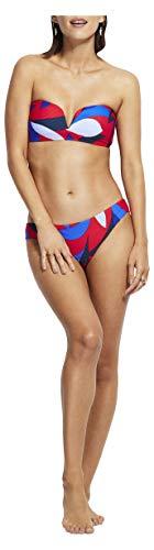 Seafolly Women's Standard Sweetheart Bandeau Bikini Top Swimsuit, Aloha Chilli, 8 US