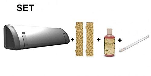 SET Insect-O-Cutor + 2x 12 Plaques de glu + Fruits attractif + UV tube