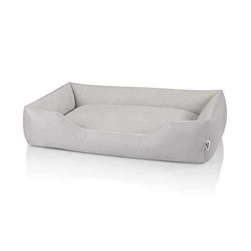 BedDog® Zara Letto per Cane/Gatto Cuccia S Fino a XXXL, Cuscino per Cane, Divano per Cane, Cestino per Cane, XXL, Light-Sand (Beige Chiaro)