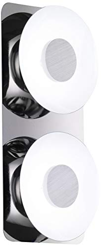 WOFI Deckenbalken, 2-flammig, Serie Space, 2 x LED, 6 W, 20 V, Breite 14 cm, Höhe 6 cm, Tiefe 30 cm,