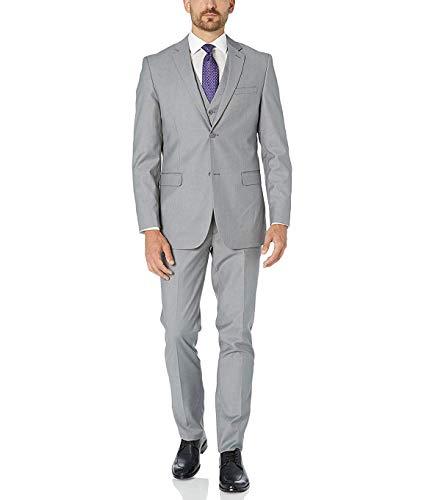 Adam Baker Light Grey Classic Fit Vested Suit
