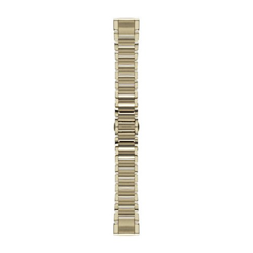Garmin Edelstahl-Armband-20mm, Champagnerfarben Quickfit-wechselarmband, Champagner, 20 mm