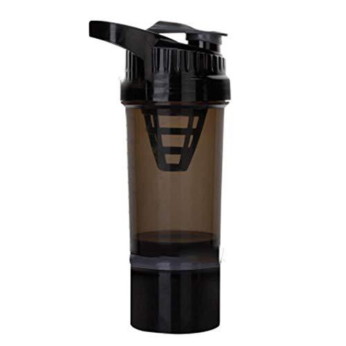 Shakerfles met mengbal Sport Gym Wei-eiwit Poeder Mengfles Fitness Waterfles BPA-vrij nieuw, 1 st