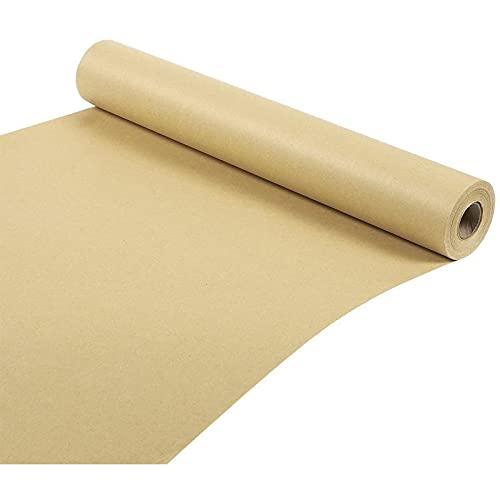Rollo de papel Kraft - Paquete de ahorro Jumbo de 30,5 metros - Rollo de papel de embalaje marrón - 44,5 cm de ancho