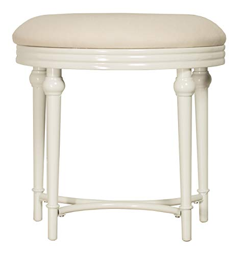 Hillsdale Furniutre Cape May Vanity Stool, Matte White