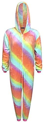 Eenhoorn Onesie Womens Comfy Pyjama Mens Zachte Slaappak Geschenken voor Dames Dier Volwassen Jumpsuit Dress Up Kostuum