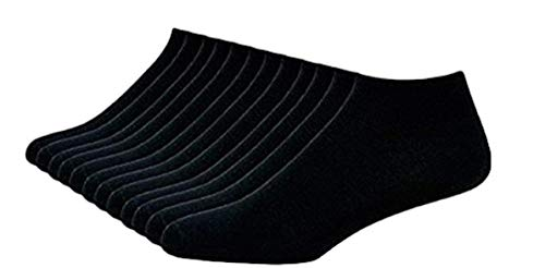 I&S Men's 12 Pack Low Cut No Show Ankle Socks - Socks Men Size 10-13 (Asst)