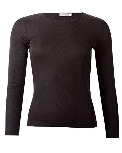 Alkena, dames onderhemd/shirt ribben, 100% zijde
