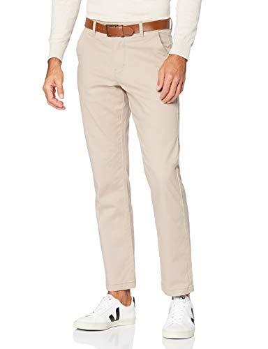 MERAKI Pantalón Chino de Algodón Hombre, beige (Sand), 42W / 32L, Label: 42W / 32L