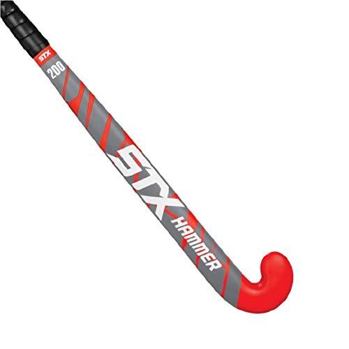 STX Hammer, Bastone da Hockey Unisex-Adulto, Rosso Nero, 35.5 Inches