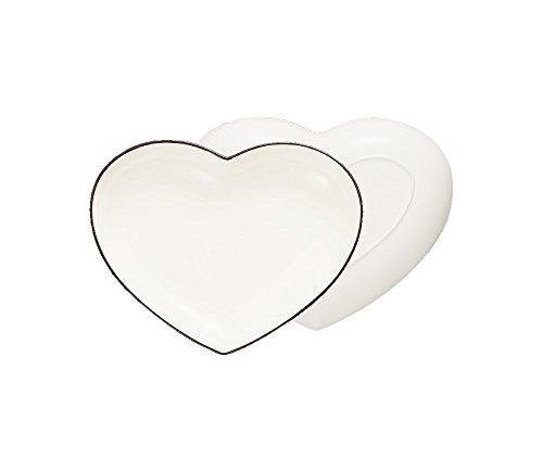 ハウスホールド felice フェリーチェ ハート カレー & パスタ 皿 ホワイト 食器洗い機対応 電子レンジ対応