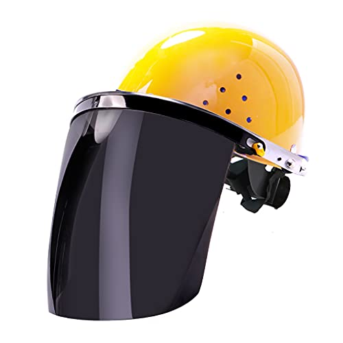 WANGF Máscara Protectora Transparente Casco Pantalla Facial Soldadura y Pulido Anti Impacto a Alta Temperatura Anti Salpicaduras Seguro y a Prueba de Polvo Aislamiento Instantáneo 300-500 Grados
