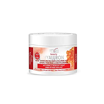 Victoria Beauty Hyaluron, Retinol, Caviar and Red-Grape Anti-Wrinkle Lifting Day and Night Cream - Anti-Aging Face Moisturizer with Hyaluronic Acid fo Ages 50 to 65+ by Camco Ltd