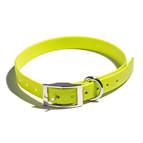 JHGJHG Cuello de Correa de Perro a Prueba de Agua Cuerda Durable del Perro reflexivo Grande para el pequeño Collar de Perro Grande Mediano para el Cuidado del Aire Libre (Color : Yellow, Size : M01)