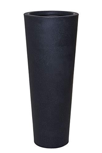 Vivanno Pflanzkübel Blumenkübel Kunststoff Anthrazit Sandstein Rondo Classico (110x44)