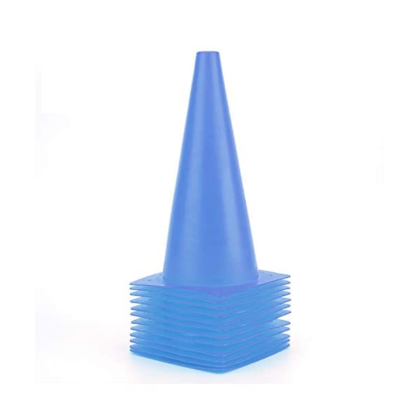 12 Inch Traffic Training Cones, Plastic Safety Parking Cones, Agility Field Marker...