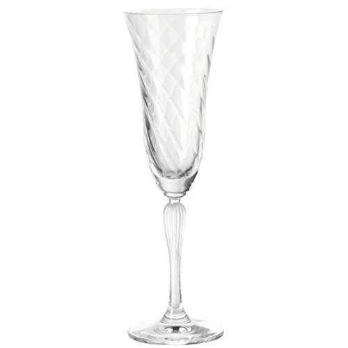 Leonardo Volterra Sekt-Gläser, Sekt-Kelch mit Stiel, spülmaschinengeeignete Prosecco-Gläser, 6er Set, 185 ml, 020763