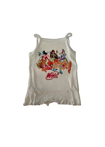 Winx Club Top para niña con tirantes estrechos Bianco 2 años