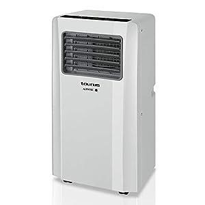 Taurus AC 2600 RVKT - Aire acondicionado port?til, 4 en 1: calor, fr?o, deshumidificador y ventilador, silencioso, temporizador, mando a distancia, kit ventana, 9000 BTU - con calor, blanco