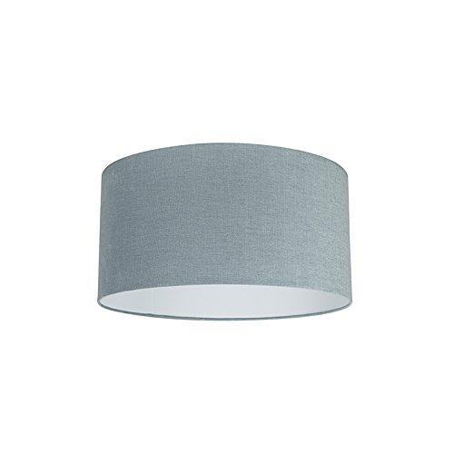 QAZQA Moderno Algodón y poliéster Pantalla tela azul claro 50/50/25, Redonda/Cilíndrica Pantalla lámpara colgante,Pantalla lámpara de pie