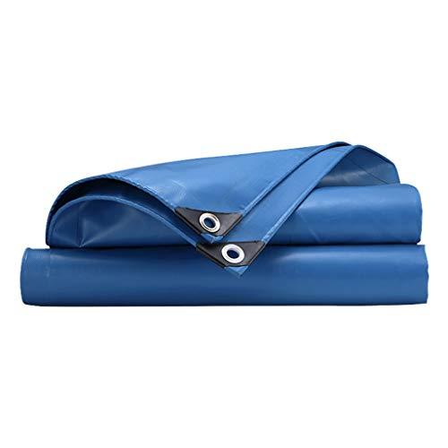 JINGKE Tarpaulin Blue Waterproof Heavy Duty Tarp Sheet with Eyelets 650g/㎡ PVC Outdoor Camping Plant Cover Cloth Ground Sheet Tarp,3X6M