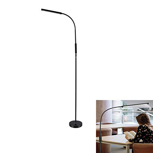 LED-vloerlamp, afstandsbediening Touch Dual-Use, 5 Niveau Dimmen voor ontspannen, lezen en werken