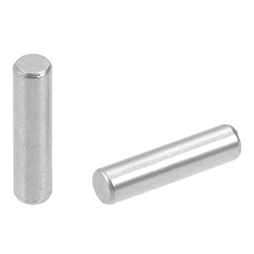 DealMux 50Pcs 3mm x 12mm Passstift 304 Edelstahl Regalstützstift Befestigungselemente Silber Ton