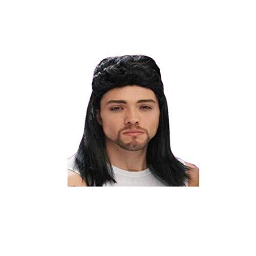 ZNXHNDSH HND peluca corta y rizada anime Cosplay peluca con disfraz para hombre y nia fiesta de Halloween, negro (regalo: peine) (color: C, tamao: 62 cm)