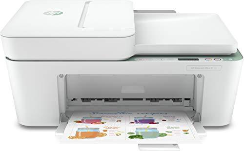 HP DeskJet Plus 4122 Stampante a Getto Termico d'Inchiostro, 4800 x 1200 DPI, 8.5 ppm A4, Wi-Fi, Stampa a Colori, Bianco