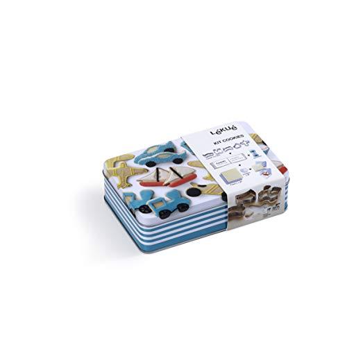 Lékué 3000027SURM017 Cutter pour Biscuits Set Transport, Métal, Multicolore, 45x35x25 cm