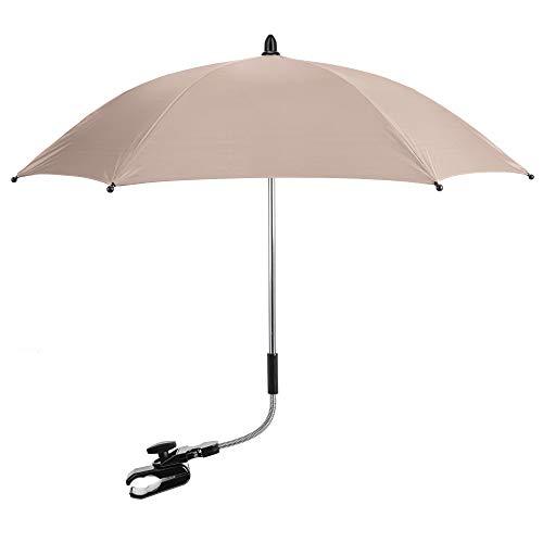 FYLO Universal Baby Parasol Umbrella Sun Canopy Shade Maker for Pushachair Pram Buggy - Sand