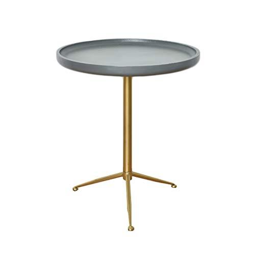 Côté Petite table basse Table d'appoint Nordic Iron art Simple Canapé en ciment imitation balcon Salon (taille : 49cm*56cm)