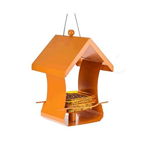 Futterstationszubehör Open Bird's Nest Outside Terrace Hinterhof-Verschachtelungsausrüstung in zwei Farben erhältlich Tiernahrungsspender (Color : Orange)
