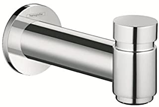 hansgrohe Tub Spout with Diverter Premium 3-inch Modern Tub Spout in chrome, 72411001