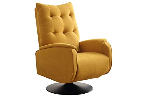 SuenosZzz - Sillon Relax reclinable Ground tapizado Tela Color Mostaza   Sillon reclinable butaca Relax de pie   Sillon orejero Individual Salon   Butaca Relax Confort