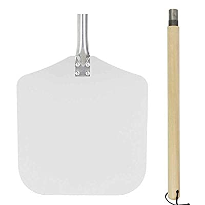 Cozy Vibe Pizza Shovel?Pizza Peel with Wood Handle 13.1-Inch x 12-Inch Kitchen Supply for Baking Homemade Pizza Bread from Cozy Vibe