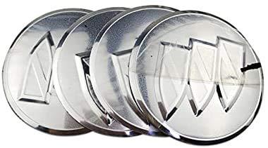 4 Piezas Tapas Centrales para llantas para Buick Avenir Enclave Century Regal Encore Lacrosse HRV XT,Auto Tapas centrales with Logo Centro Hub Cap Tapas de Cubo de Rueda Pegatinas Accesorios de Coche