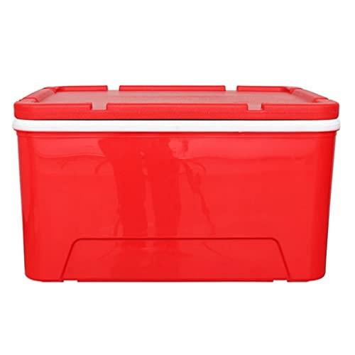 LZL 70-Cuarto portátil a Prueba de Fugas Compacto con Aislamiento Ligero con Aislamiento de la Caja Fuerte de la Caja Fuerte para la Pesca, la Caza y el Camping (Color : Red)
