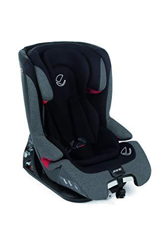 Jané 4578RE T34 Grand – Kindersitz Gruppe 1/2/3, von 9 bis 36kg, mit Isofix und Top Tether, inklusive Sitzverkleinerer, Farbe Jet Black, schwarz