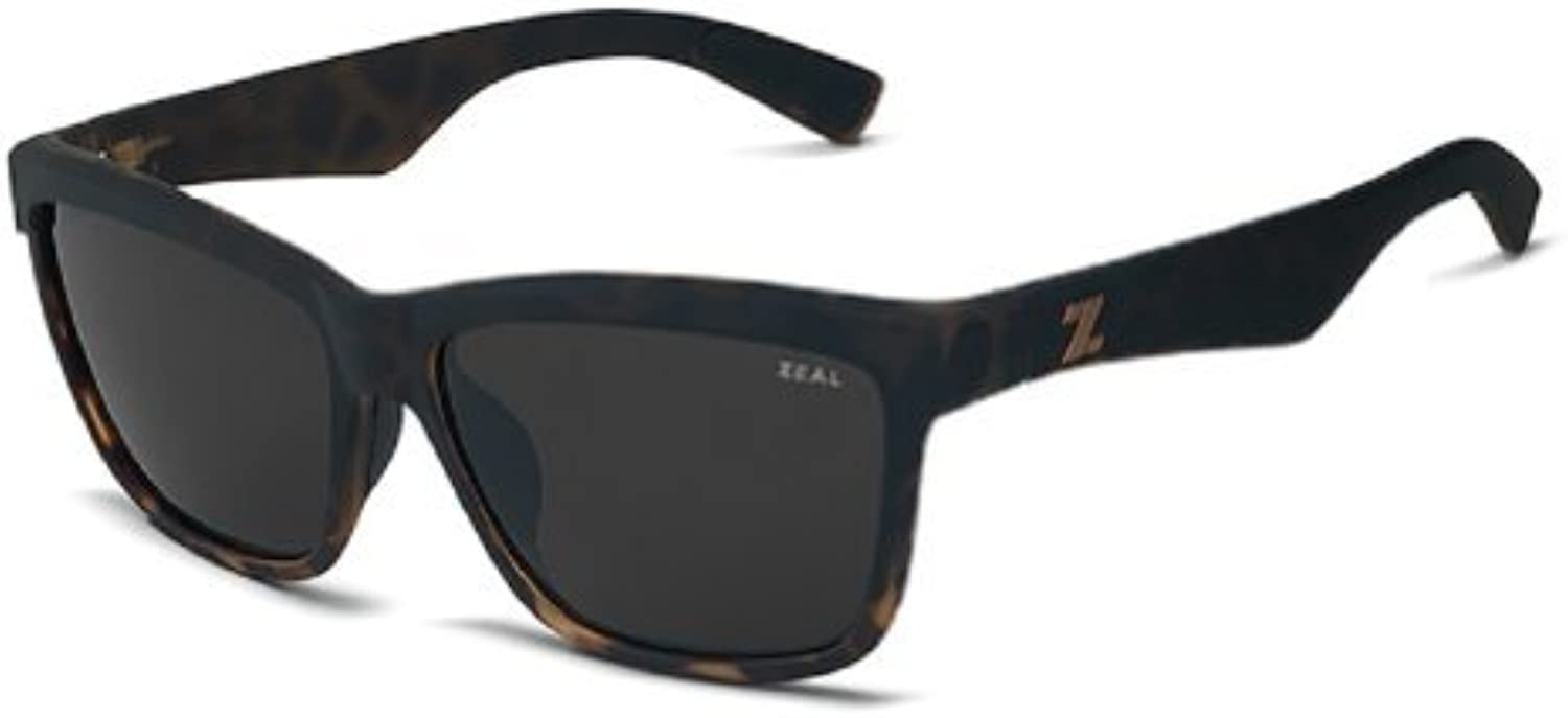 Zeal Optics Kennedy Polarized Sunglasses  Torched Tortoise Frame with Dark Grey Lens by Zeal Optics