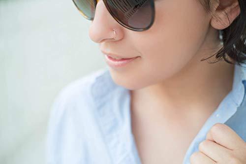 Elliejmaui 20g 14k Nose Ring Hoop Piercing Jewelry 20 Gauge 5mm