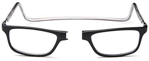 occhiali regolabili NEWVISION®Occhiali da Lettura con Calamita Occhiali Presbiopia Pieghevoli Regolabili Chiusura Clip Magnetici Donna Uomo Stanghette Appendere Collo