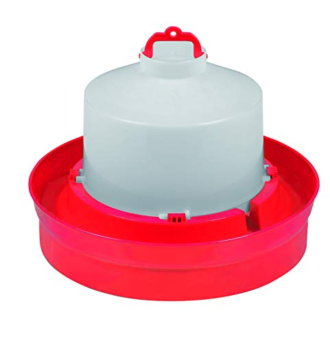 Little Giant Deep Base Poultry Waterer (1 Gallon) Heavy Duty Plastic Water Container for Birds & Chicken (Item No. DBW1)