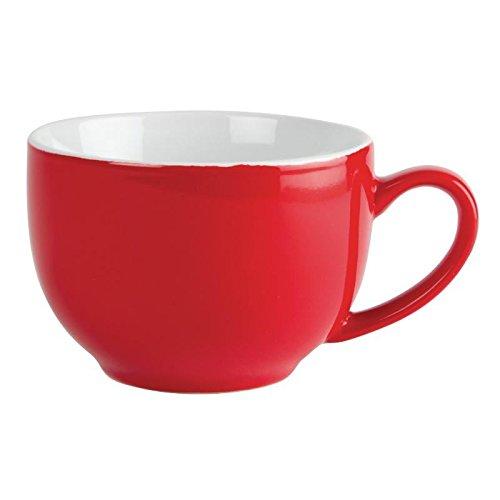 Olympia GK076 Tasse à café Cappuccino, 340 ml, 12 oz, rouge (Lot de 12)