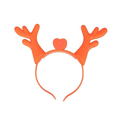 WINOMO 4 cerchietti natalizi a LED a forma di corna di corna per capelli, accessori per Natale, Capodanno, costume cosplay