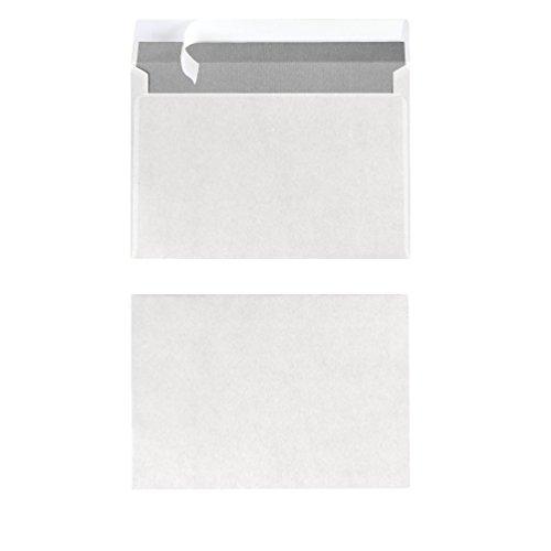 Herlitz Briefumschlag C6 Haftklebend Ohne Fenster, 25 Stück mit Innendruck in Folienpackung, eingeschweißt, weiß